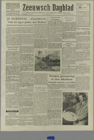 Zeeuwsch Dagblad 1958-01-16
