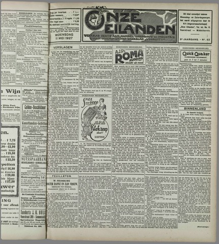 Onze Eilanden 1927-05-11