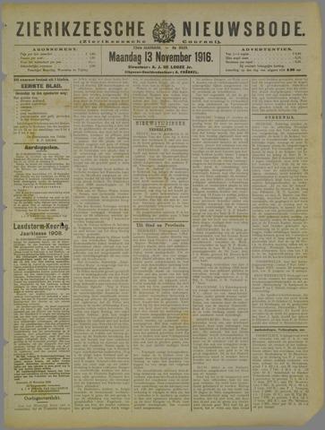 Zierikzeesche Nieuwsbode 1916-11-13