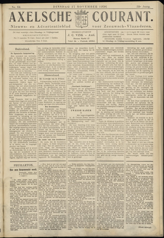 Axelsche Courant 1936-11-17