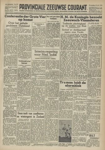 Provinciale Zeeuwse Courant 1948-07-28