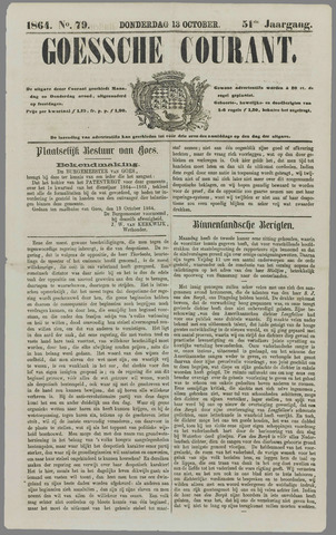 Goessche Courant 1864-10-13