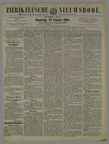 Zierikzeesche Nieuwsbode 1905-02-16