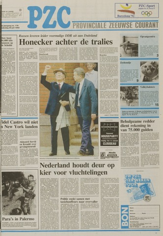 Provinciale Zeeuwse Courant 1992-07-30
