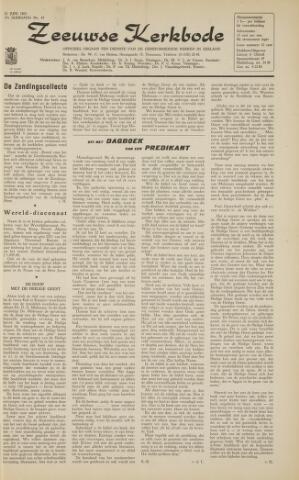 Zeeuwsche kerkbode, weekblad gewijd aan de belangen der gereformeerde kerken/ Zeeuwsch kerkblad 1963-06-21