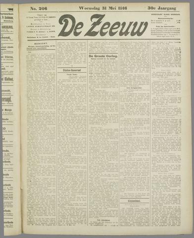 De Zeeuw. Christelijk-historisch nieuwsblad voor Zeeland 1916-05-31