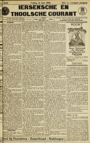 Ierseksche en Thoolsche Courant 1926-06-11