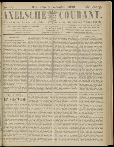 Axelsche Courant 1920-11-03
