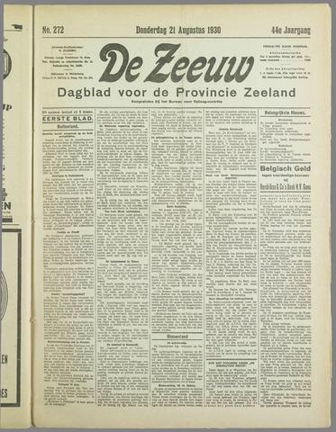 De Zeeuw. Christelijk-historisch nieuwsblad voor Zeeland 1930-08-21