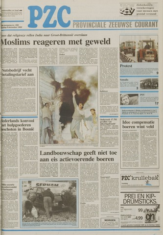 Provinciale Zeeuwse Courant 1992-12-08