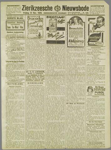 Zierikzeesche Nieuwsbode 1926-11-12