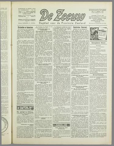 De Zeeuw. Christelijk-historisch nieuwsblad voor Zeeland 1937-11-16
