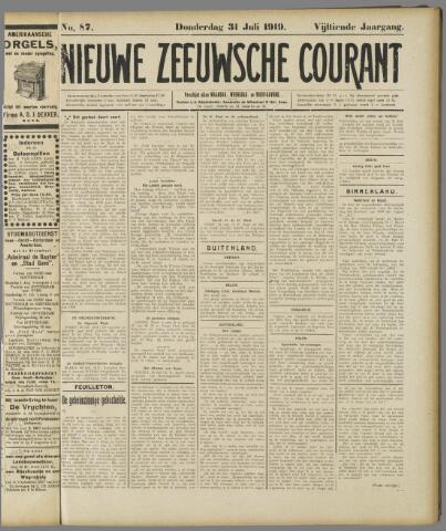 Nieuwe Zeeuwsche Courant 1919-07-31