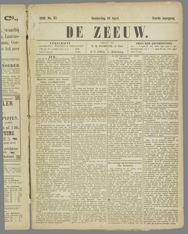 De Zeeuw. Christelijk-historisch nieuwsblad voor Zeeland 1890-04-24