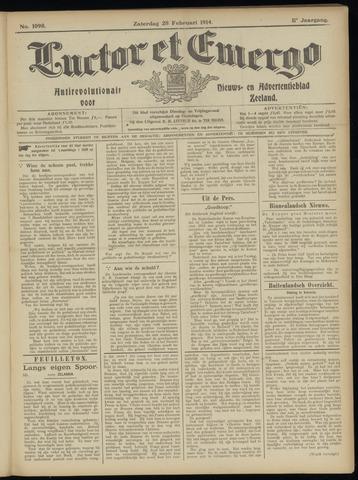 Luctor et Emergo. Antirevolutionair nieuws- en advertentieblad voor Zeeland / Zeeuwsch-Vlaanderen. Orgaan ter verspreiding van de christelijke beginselen in Zeeuwsch-Vlaanderen 1914-02-28