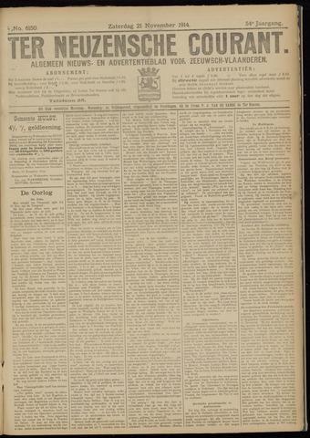 Ter Neuzensche Courant. Algemeen Nieuws- en Advertentieblad voor Zeeuwsch-Vlaanderen / Neuzensche Courant ... (idem) / (Algemeen) nieuws en advertentieblad voor Zeeuwsch-Vlaanderen 1914-11-21