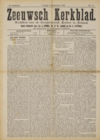 Zeeuwsche kerkbode, weekblad gewijd aan de belangen der gereformeerde kerken/ Zeeuwsch kerkblad 1907-09-06