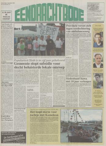 Eendrachtbode (1945-heden)/Mededeelingenblad voor het eiland Tholen (1944/45) 2003-09-04