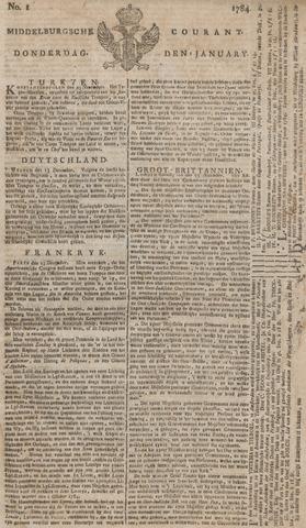 Middelburgsche Courant 1784