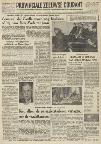 Provinciale Zeeuwse Courant 1958-07-25