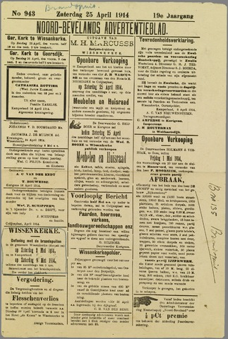 Noord-Bevelands Nieuws- en advertentieblad 1914-04-25