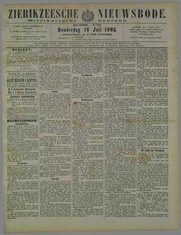 Zierikzeesche Nieuwsbode 1903-07-16