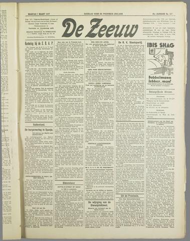 De Zeeuw. Christelijk-historisch nieuwsblad voor Zeeland 1937-03-01