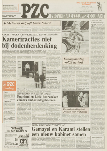 Provinciale Zeeuwse Courant 1984-05-01