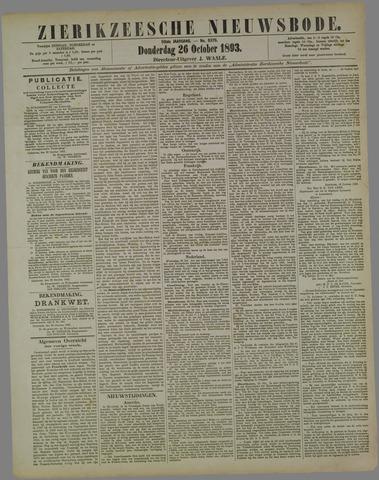 Zierikzeesche Nieuwsbode 1893-10-26