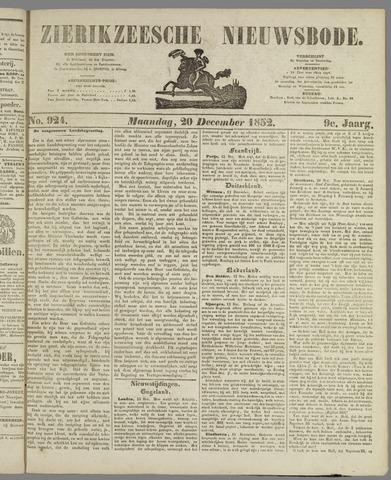 Zierikzeesche Nieuwsbode 1852-12-20