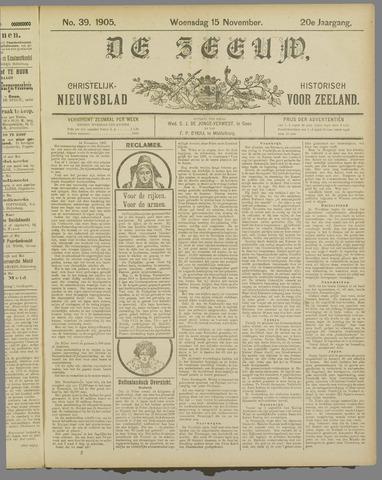 De Zeeuw. Christelijk-historisch nieuwsblad voor Zeeland 1905-11-15