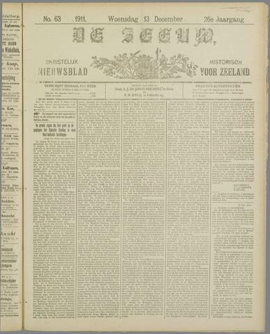 De Zeeuw. Christelijk-historisch nieuwsblad voor Zeeland 1911-12-13