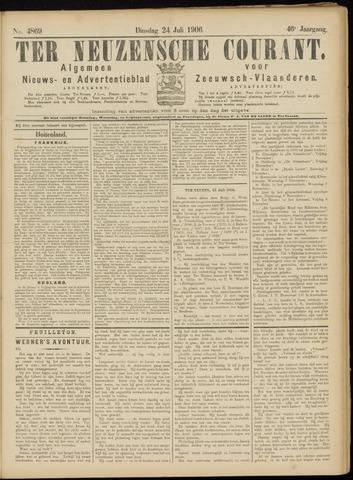 Ter Neuzensche Courant. Algemeen Nieuws- en Advertentieblad voor Zeeuwsch-Vlaanderen / Neuzensche Courant ... (idem) / (Algemeen) nieuws en advertentieblad voor Zeeuwsch-Vlaanderen 1906-07-24