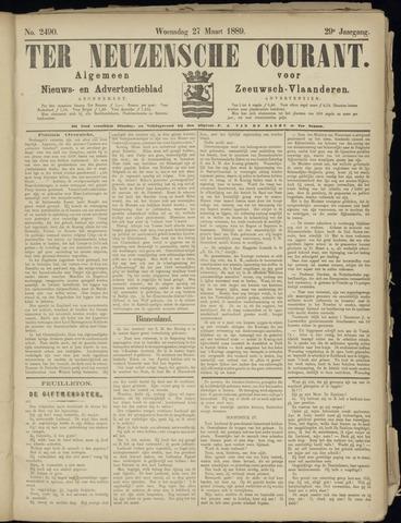 Ter Neuzensche Courant. Algemeen Nieuws- en Advertentieblad voor Zeeuwsch-Vlaanderen / Neuzensche Courant ... (idem) / (Algemeen) nieuws en advertentieblad voor Zeeuwsch-Vlaanderen 1889-03-27