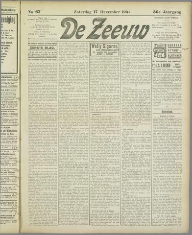 De Zeeuw. Christelijk-historisch nieuwsblad voor Zeeland 1921-12-17