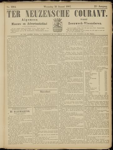 Ter Neuzensche Courant. Algemeen Nieuws- en Advertentieblad voor Zeeuwsch-Vlaanderen / Neuzensche Courant ... (idem) / (Algemeen) nieuws en advertentieblad voor Zeeuwsch-Vlaanderen 1887-01-26