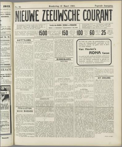 Nieuwe Zeeuwsche Courant 1913-03-27