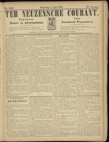 Ter Neuzensche Courant. Algemeen Nieuws- en Advertentieblad voor Zeeuwsch-Vlaanderen / Neuzensche Courant ... (idem) / (Algemeen) nieuws en advertentieblad voor Zeeuwsch-Vlaanderen 1897-04-08