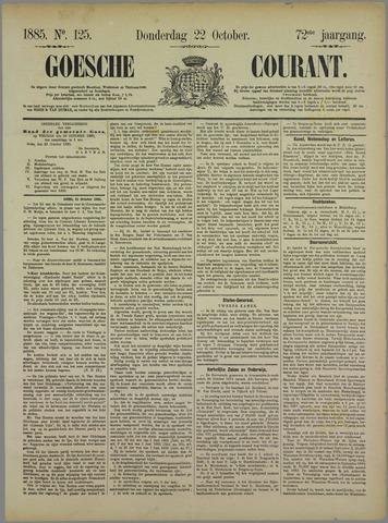 Goessche Courant 1885-10-22