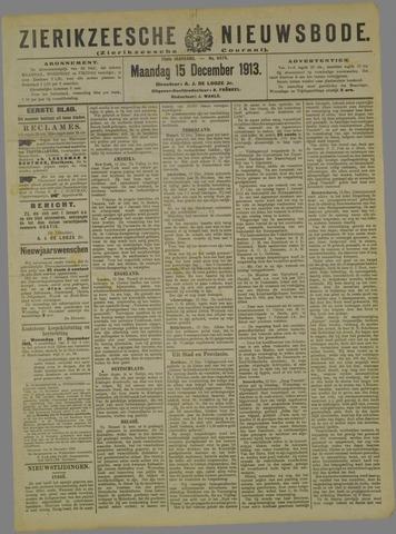 Zierikzeesche Nieuwsbode 1913-12-15