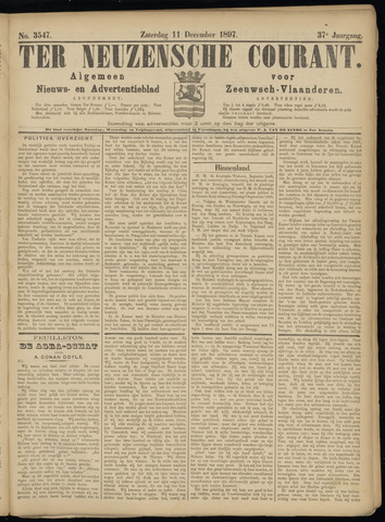 Ter Neuzensche Courant. Algemeen Nieuws- en Advertentieblad voor Zeeuwsch-Vlaanderen / Neuzensche Courant ... (idem) / (Algemeen) nieuws en advertentieblad voor Zeeuwsch-Vlaanderen 1897-12-11