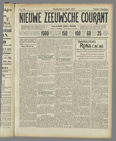 Nieuwe Zeeuwsche Courant 1914-04-09