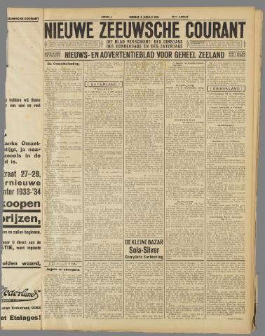 Nieuwe Zeeuwsche Courant 1934-01-09