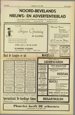 Noord-Bevelands Nieuws- en advertentieblad 1959-07-11