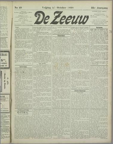 De Zeeuw. Christelijk-historisch nieuwsblad voor Zeeland 1920-10-22