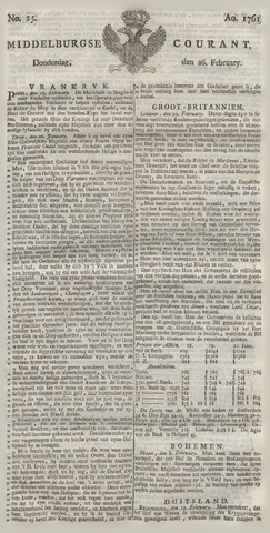 Middelburgsche Courant 1761-02-26