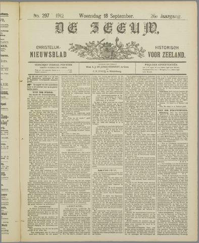 De Zeeuw. Christelijk-historisch nieuwsblad voor Zeeland 1912-09-18