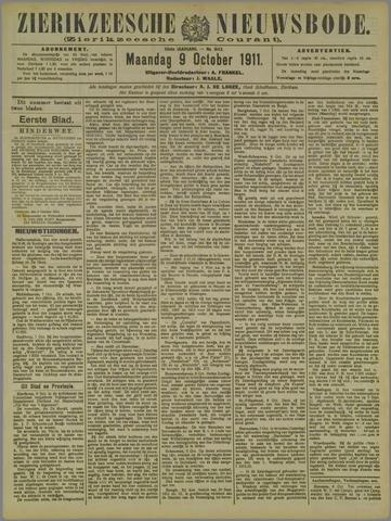 Zierikzeesche Nieuwsbode 1911-10-09
