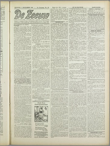 De Zeeuw. Christelijk-historisch nieuwsblad voor Zeeland 1943-12-07