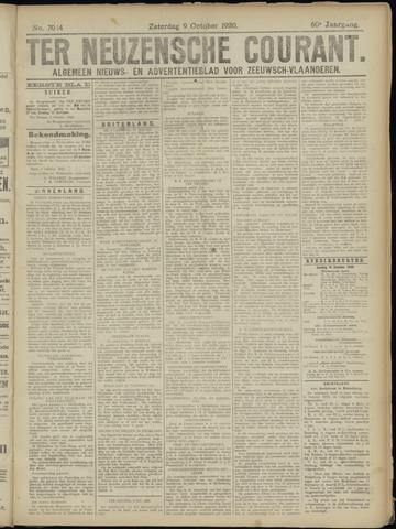 Ter Neuzensche Courant. Algemeen Nieuws- en Advertentieblad voor Zeeuwsch-Vlaanderen / Neuzensche Courant ... (idem) / (Algemeen) nieuws en advertentieblad voor Zeeuwsch-Vlaanderen 1920-10-09